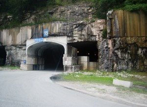 The entrance to the Americold underground storage and distribution facility.